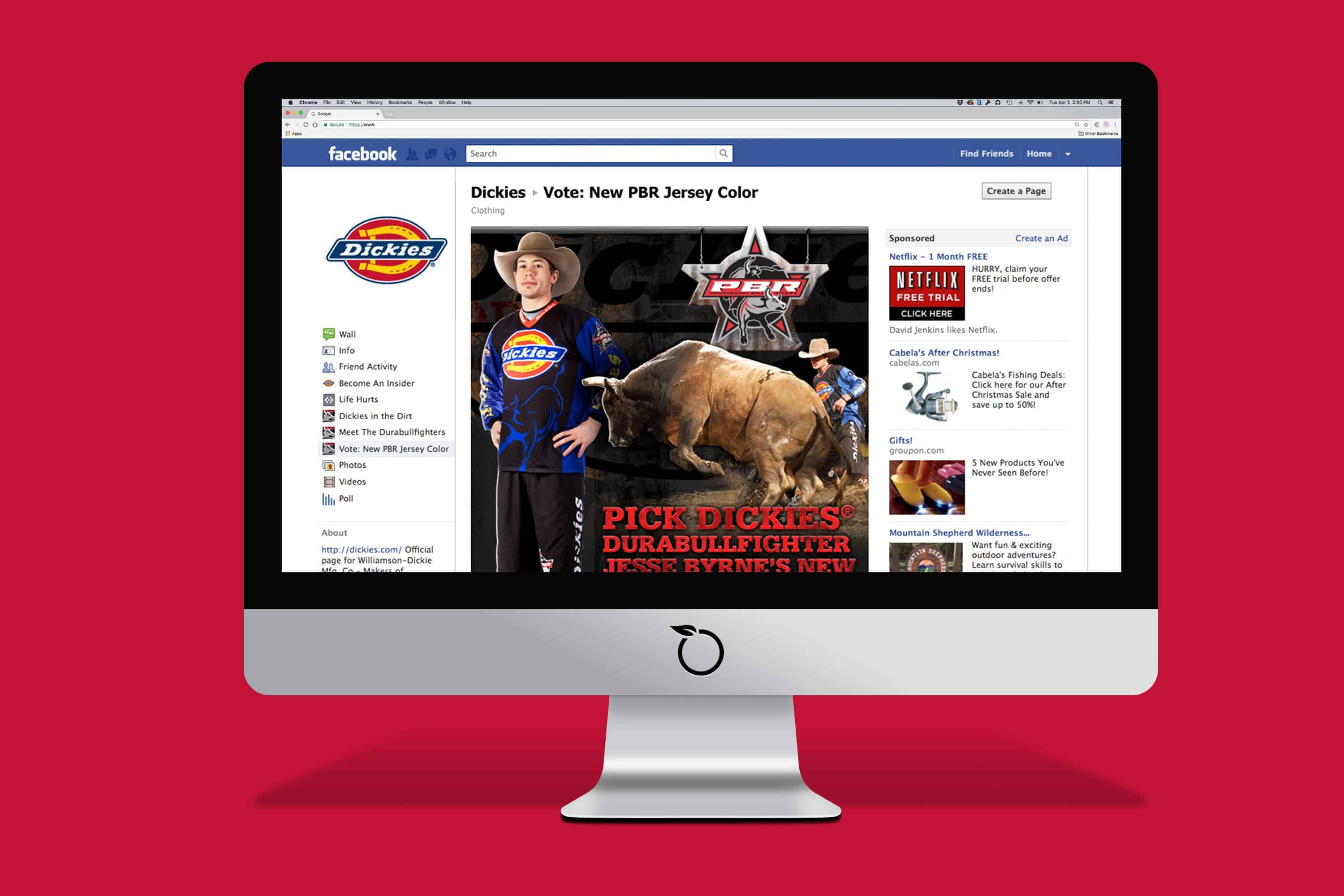 Dickies social Media Marketing Built to Work Campaign